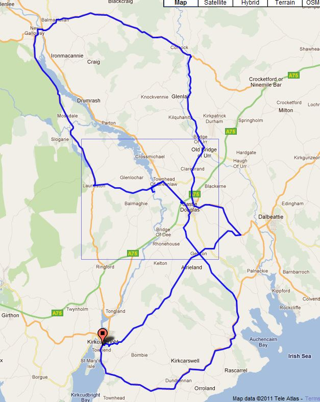 Galloway ReCycle Sportive Medium Route Map
